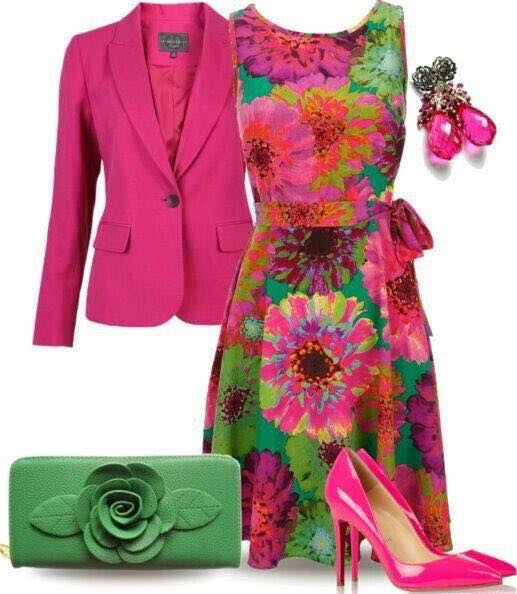 elegantni pestro-barevny outfit