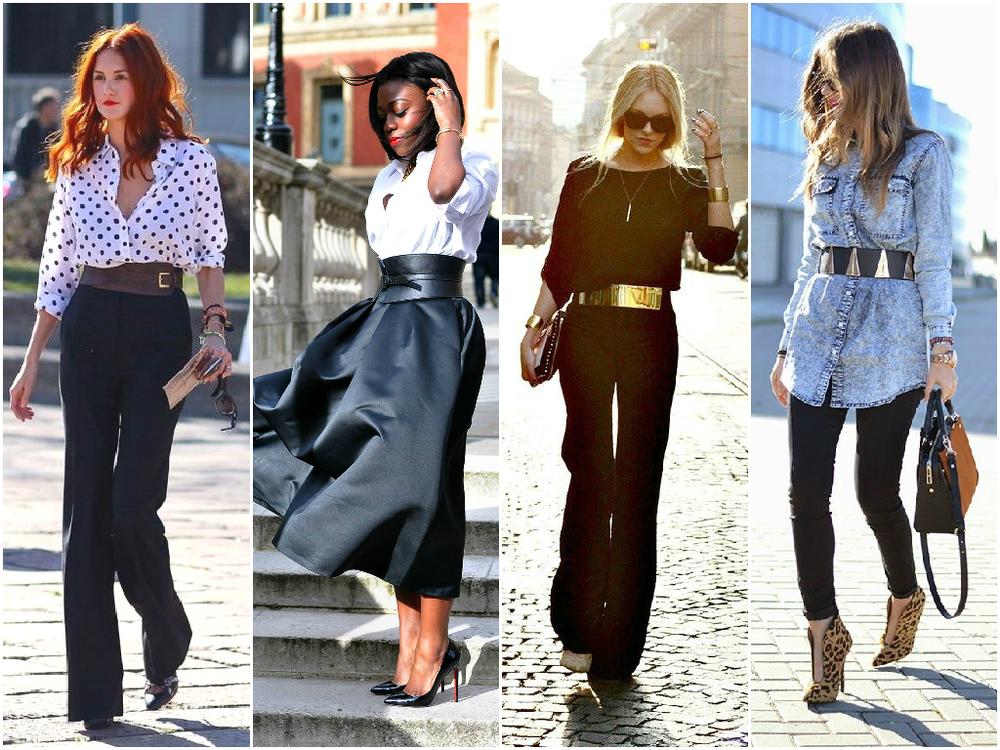 outfity se širokým páskem