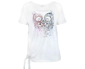 Deha Dámské triko Knotted T-Shirt B84533 Snow White